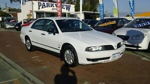 2001 Mitsubishi Magna TJ White 4 Speed Automatic Sedan Victoria Park Victoria Park Area Preview