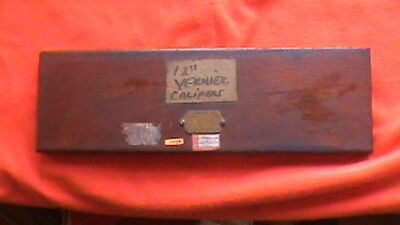 Browne Sharpe Providence Ri Vintage 12 Vernier Calipers With Wooden Case