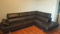 Genuine L Shape Leather Couch for sale