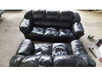 Sofa 2÷3 sets black leather