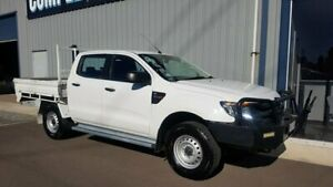 2013 Ford Ranger PX XL 3.2 (4x4) White 6 Speed Automatic Dual Cab Chassis Hackham Morphett Vale Area Preview