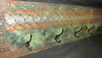 Funky Green/ Coppery Celtic Braid Coat Rack