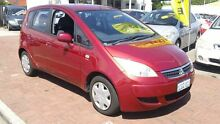 2006 Mitsubishi Colt RG MY06 LS Red 1 Speed Constant Variable Hatchback Victoria Park Victoria Park Area Preview