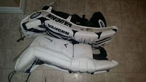 Vaughn Velocity Goalie Pads with Glove and Blocker