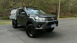 2017 Toyota Hilux GUN126R SR EXTENDED CAB Grey Semi Auto Cab Chassis