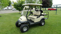 CLUB CAR PRECEDENT GOLF CART W/REAR FLIP SEAT &  LIGHTS.
