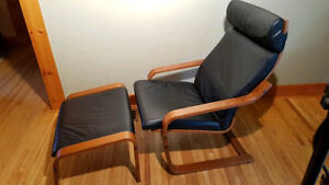 Genuine Leather Ikea Poang Chair
