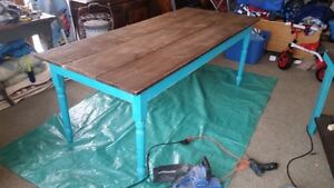 New 6.5 ft Rustic Country Style Harvest Table
