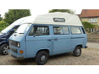 VW T3 T25 Transporter Campervan Hightop Petrol Automatic Blue