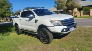 2014 Ford Ranger PX XLT Double Cab White 6 Speed Manual Utility Welshpool Canning Area Preview
