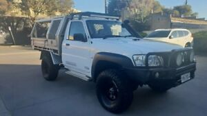 2012 Nissan Patrol MY11 Upgrade ST (4x4) White 5 Speed Manual Coil Cab Chassis Melrose Park Mitcham Area Preview