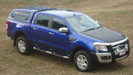 2013 Ford Ranger PX XLT Double Cab Blue 6 Speed Sports Automatic Utility Winnellie Darwin City Preview