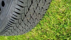 4 almost brand new all season tires on rims for sale