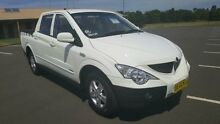 2008 Ssangyong Actyon Sports Q100 (4x4) White 5 Speed Manual Dual Cab Utility Condell Park Bankstown Area Preview
