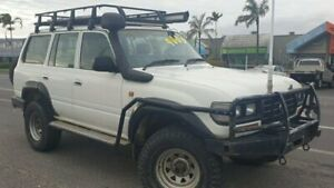 1996 Toyota Landcruiser HZJ80R Standard White 5 Speed Manual Wagon Bungalow Cairns City Preview