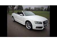 2009 Audi A5 2.0 TFSI Cabriolet Convertible 56k Full Audi Service History in White Sline