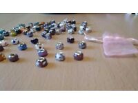 30 silver murano charms