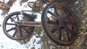 Fordson Model F Front Axle & Wheels Strathcona County Edmonton Area image 1