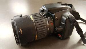 Camera Canon EOS Digital Rebel XTi+ lentille Tamron AF 18-200mm
