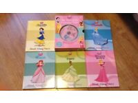 Princess story hard cover books x5 with disc