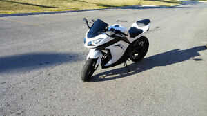 2014 Pearl White Ninja 300 ABS - With Safety