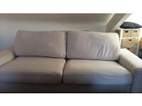 large 3-4 seater ikea KIVIK sofa bed, sand colour, DELIVERY possible