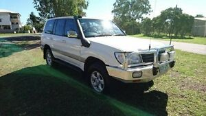 2001 Toyota Landcruiser HDJ100R GXV White 4 Speed Automatic Wagon Maryborough Fraser Coast Preview