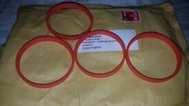 72.0 - 66.6 Spigot Rings, Set of 4 Spigot Ring for MERCEDES AUDI A5 MERC AMG SLK