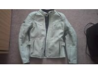 Frank Thomas Lady Rider Leather Motorcycle Jacket