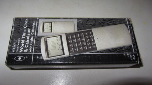 VINTAGE+WORLD+CLOCK+%26+CALCULATOR+INC+BOX+AND+LEATHER+CASE