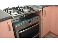 NEFF double electric oven and matching 4 ring gas hob vgc