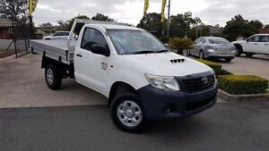2011 Toyota Hilux KUN26R MY12 Workmate White 5 Speed Manual Cab Chassis Acacia Ridge Brisbane South West Preview
