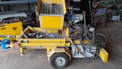grout/concrete pump sprayer unit.