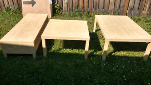 COFFEE,END +TV TABLE,COUCH,CHAIR SET,NIGHT & DISPLAY STAND++