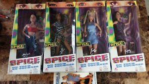 4 1998 SPICE GIRLS BARBIE DOLLS AND VHS MOVIE Kitchener / Waterloo Kitchener Area image 1