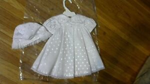 Baby Girls 0-3 month Baptism Gown Slip and Hat.Brand new