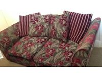 3 + 2 seater sofa and pouffe