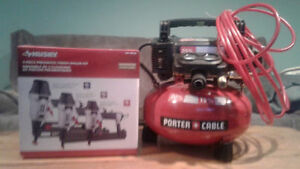Porter cable 165 psi 4gal. Compressor & 3pc.nailer set