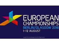 2 tickete for Glasgow 2018 European Women's Snr & Jnr Gymnastics (Apparatus Final)