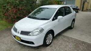 2006 Nissan Tiida C11 ST White 4 Speed Automatic Sedan Macquarie Hills Lake Macquarie Area Preview