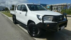 2016 Toyota Hilux GUN126R SR Double Cab Glacier White 6 Speed Sports Automatic Cab Chassis Bassendean Bassendean Area Preview