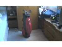 Tony Pena golf bag and clubs