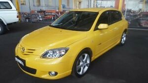 2004 Mazda 3 BK SP23 Yellow 5 Speed Manual Hatchback Georgetown Newcastle Area Preview
