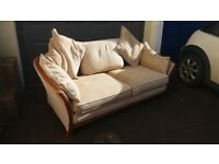 Very Comfortable Retro Looking Fabric Sofa - In Great Condition