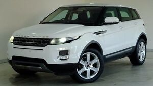 2012 Land Rover Range Rover Evoque L538 MY12 SD4 CommandShift Pure White 6 Speed Sports Automatic Hobart CBD Hobart City Preview