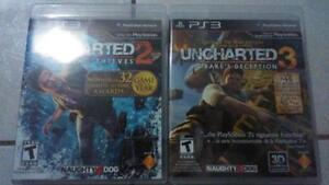 Uncharted 2 & 3 for the PS3 London Ontario image 1