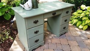 Painted Maple Desk and Painted Pressback Chair included!
