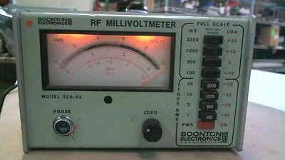 Boonton Electronics Corp 92a-s2 Rf Millivoltmeter
