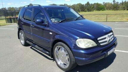 2001 Mercedes-Benz ML W163 320 (4x4) Blue 5 Speed Auto Tipshift Wagon