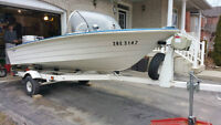 15' Deep V Fiberglass Boat with all the Fixings